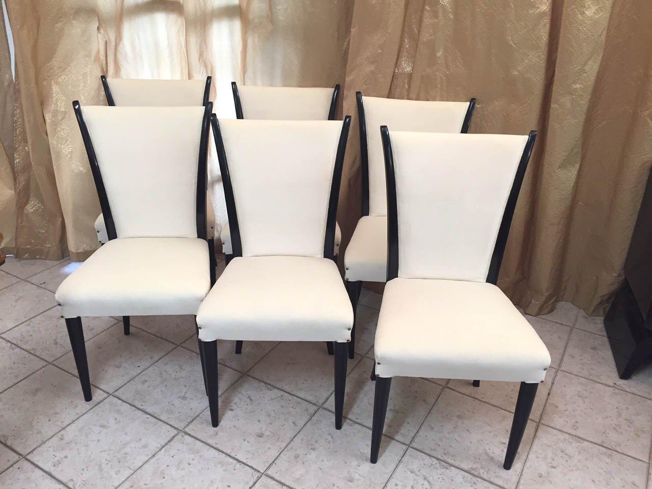 italienische art deco st hle 1930er 6er set bei pamono kaufen. Black Bedroom Furniture Sets. Home Design Ideas