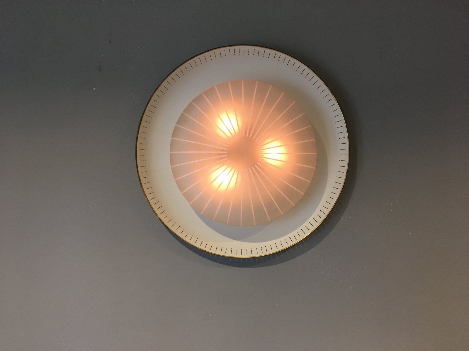 Large and Round Wall Light, 1950s for sale at Pamono
