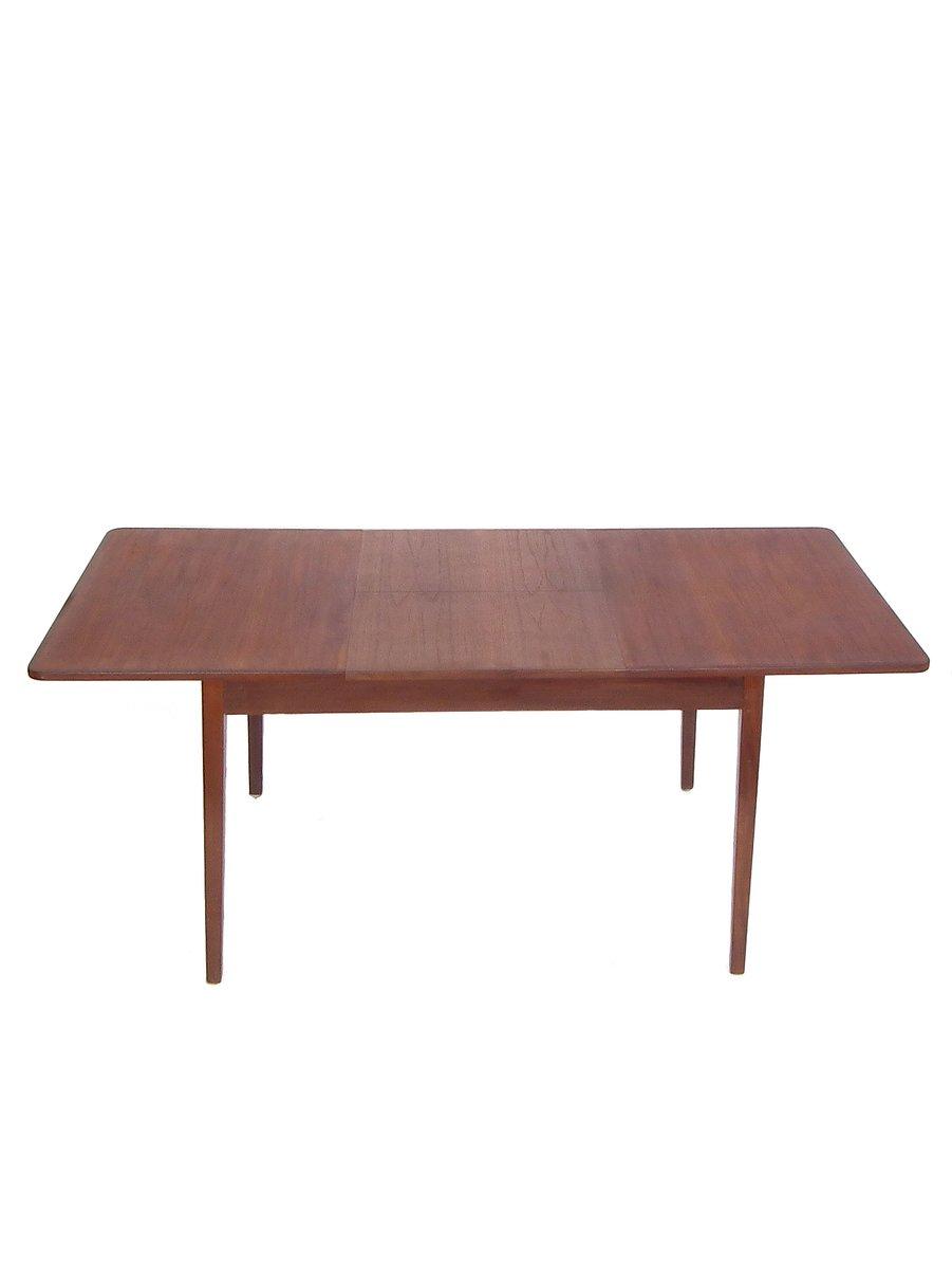 ausziehbarer tisch mit teak furnier 1960er bei pamono kaufen. Black Bedroom Furniture Sets. Home Design Ideas