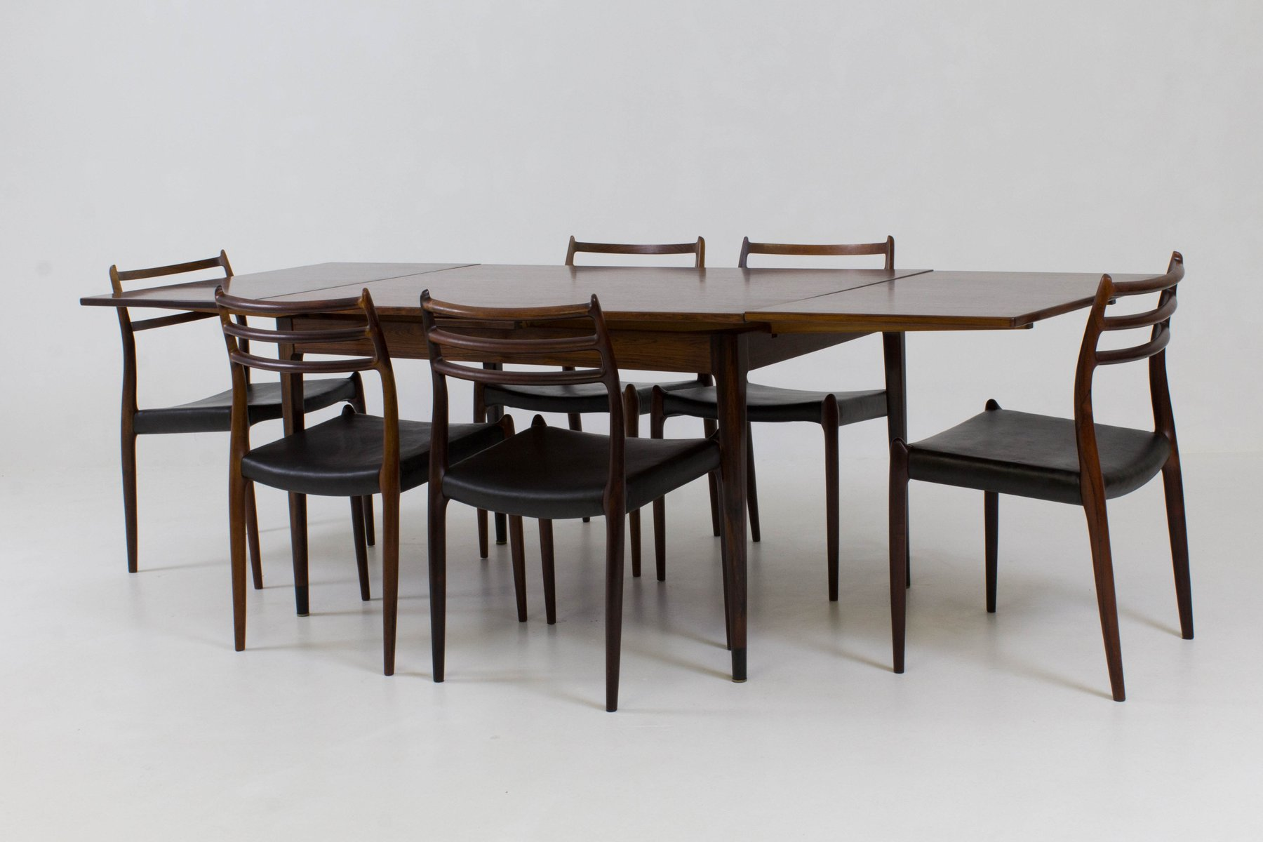 Danish Dining Room Set by Niels Otto Møller for JL Møllers, 1960s ...