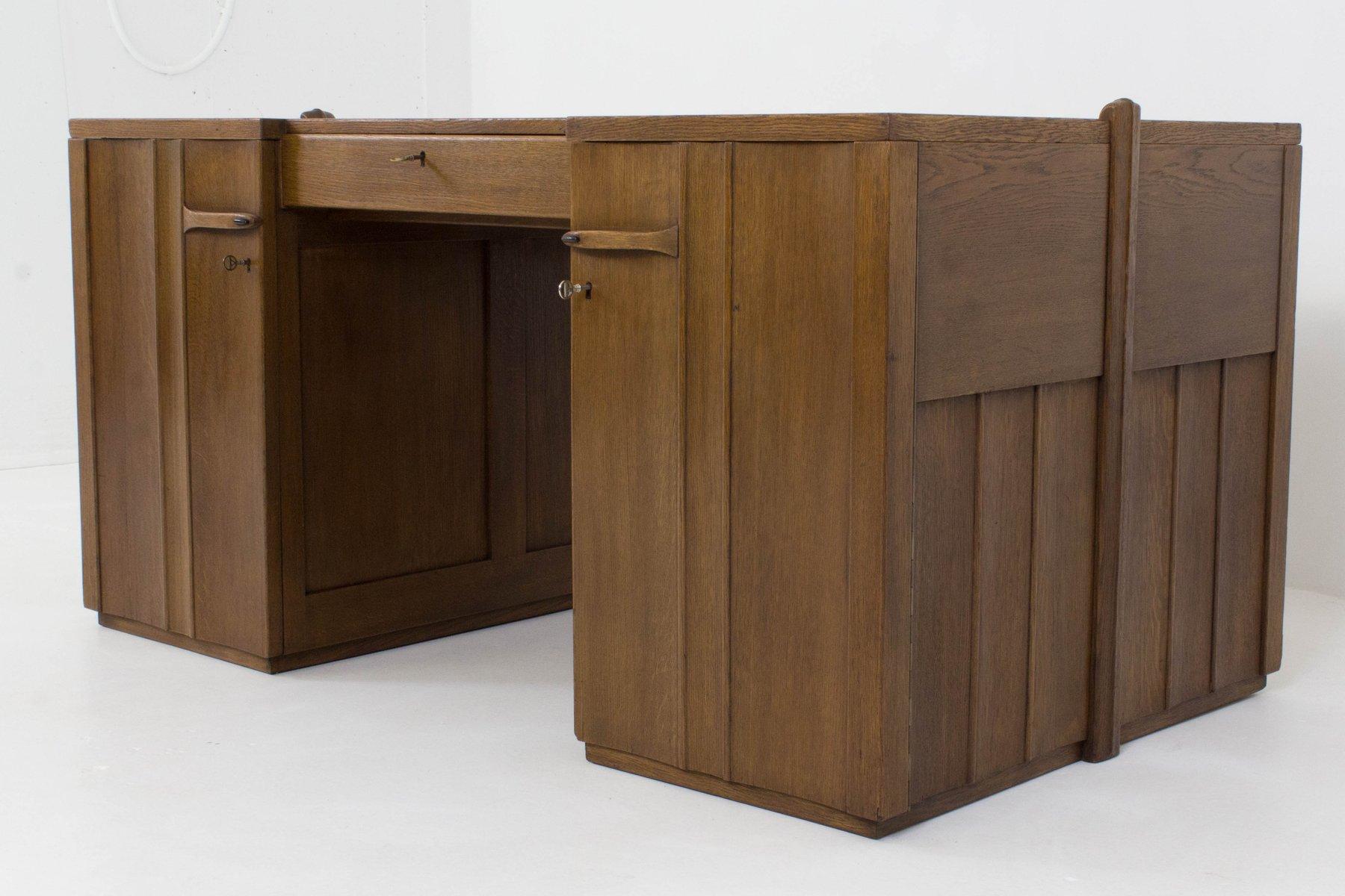 art deco amsterdamer schule schreibtisch von paul bromberg. Black Bedroom Furniture Sets. Home Design Ideas