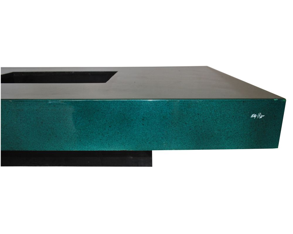 Green Lacquered Coffee Table By Willy Rizzo, 1970s