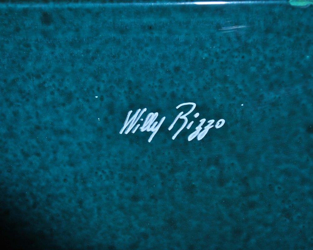 Grün Lackierter Couchtisch von Willy Rizzo, 1970er bei