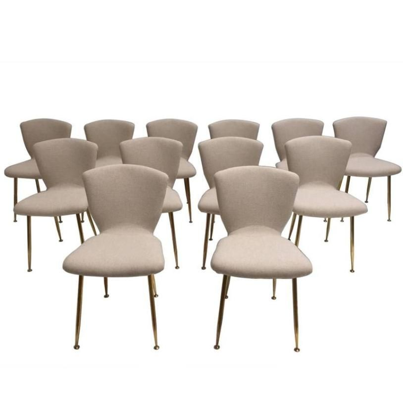 midcentury dining chairs by louis sognot for arflex set of 12