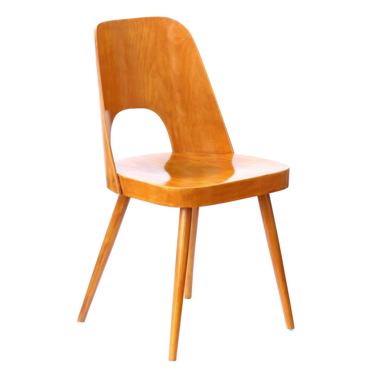 Vintage Wooden Chair by Oswald Haerdtl for TON for sale at Pamono