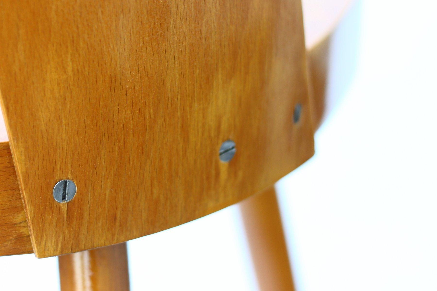 vintage holzstuhl von oswald haerdtl f r ton bei pamono kaufen. Black Bedroom Furniture Sets. Home Design Ideas