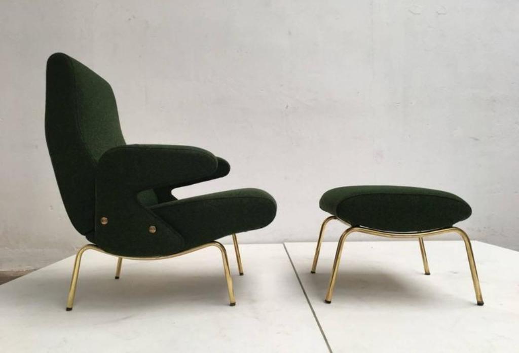 Delfino Lounge Chair U0026 Ottoman By Erberto Carboni For Arflex, 1950s