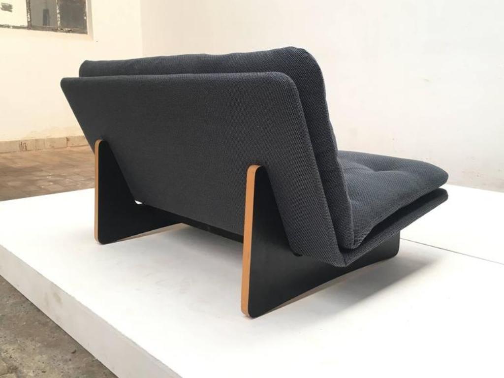 f671 zwei sitzer sofa von kho liang ie f r artifort 1960er bei pamono kaufen. Black Bedroom Furniture Sets. Home Design Ideas