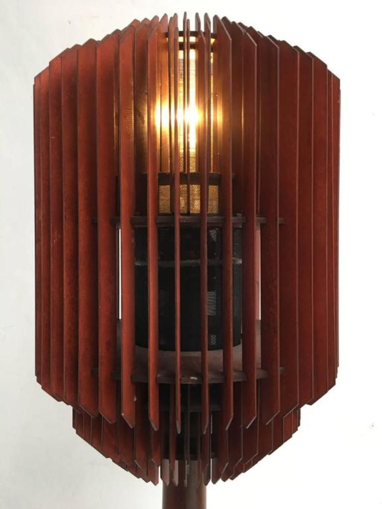 art deco louvres floor lamp 1930s for sale at pamono. Black Bedroom Furniture Sets. Home Design Ideas