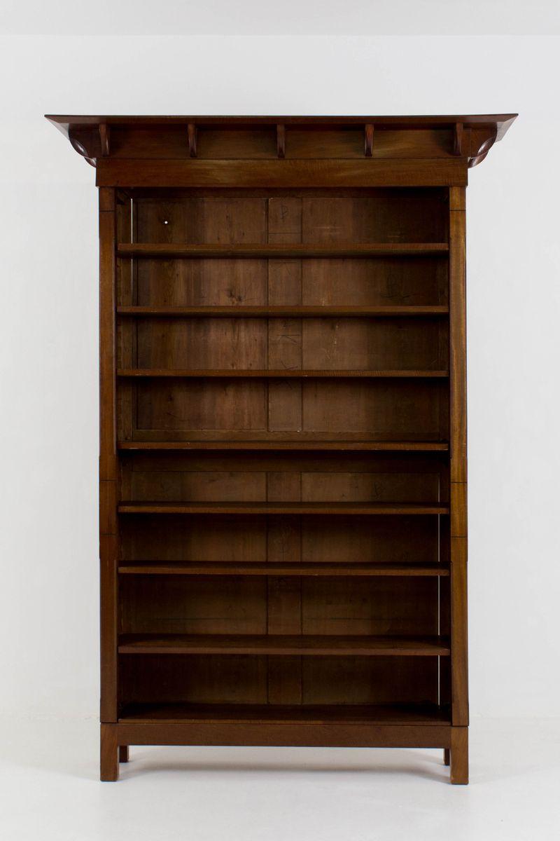 Niederländisches Jugendstil Mahagoni Bücherregal, 1900er