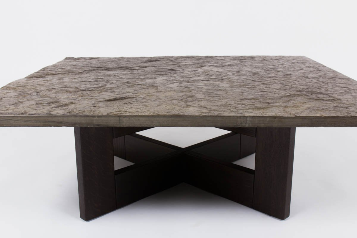 Vintage coffee table with slate top for sale at pamono Slate top coffee tables