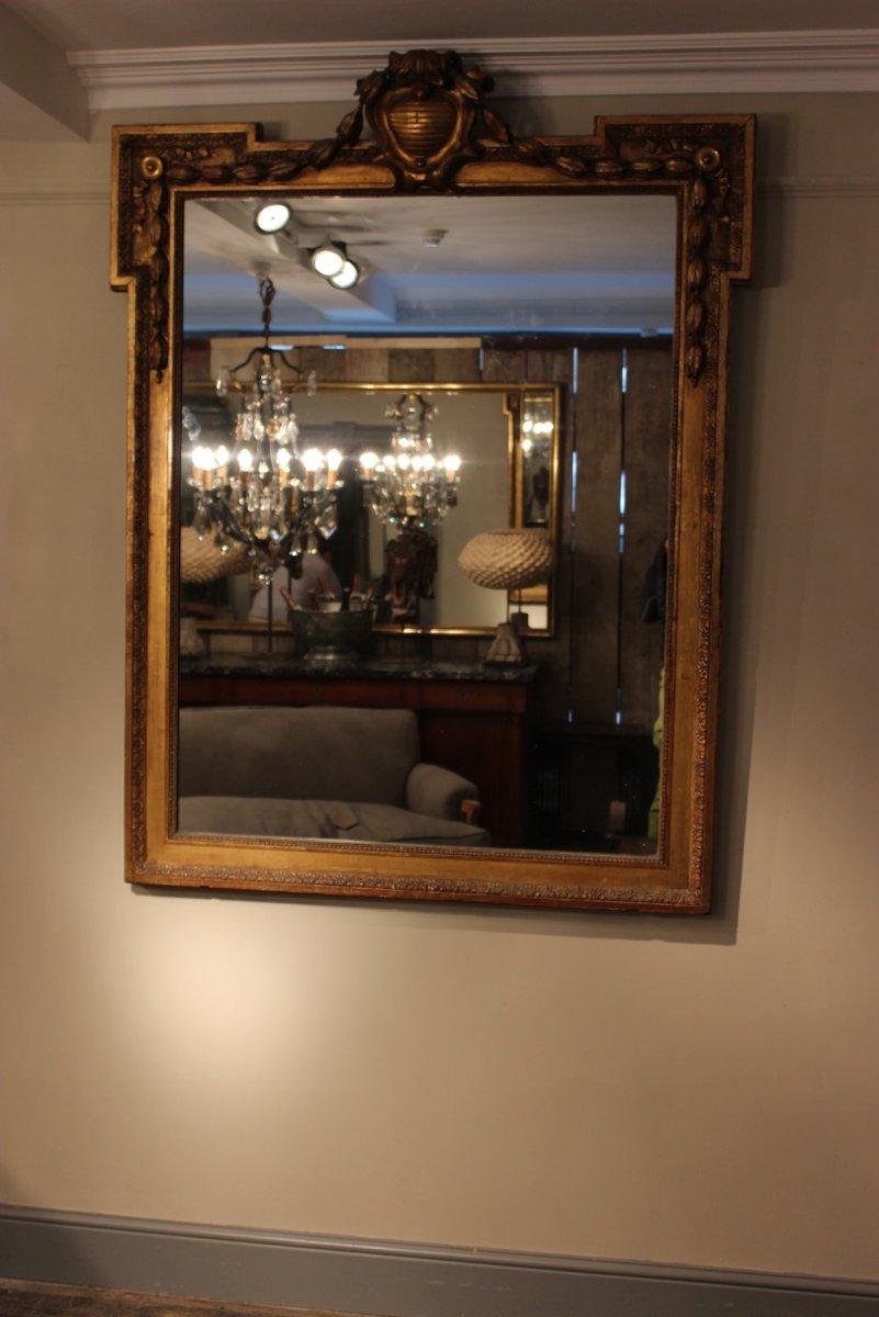 Miroir dor france 19 me si cle en vente sur pamono for Miroir 19eme siecle