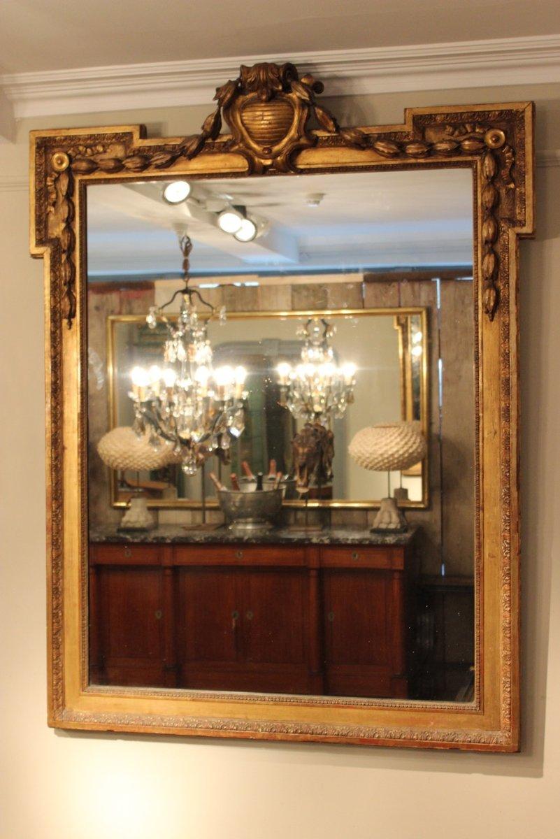 Miroir dor france 19 me si cle en vente sur pamono for Miroir france