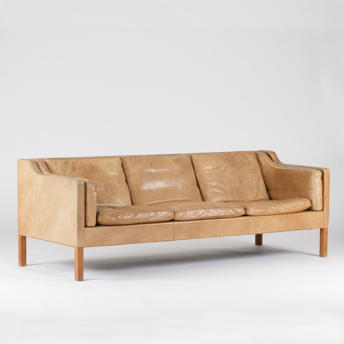 canap en cuir caramel par b rge mogensen pour fredericia 1960s en vente sur pamono. Black Bedroom Furniture Sets. Home Design Ideas