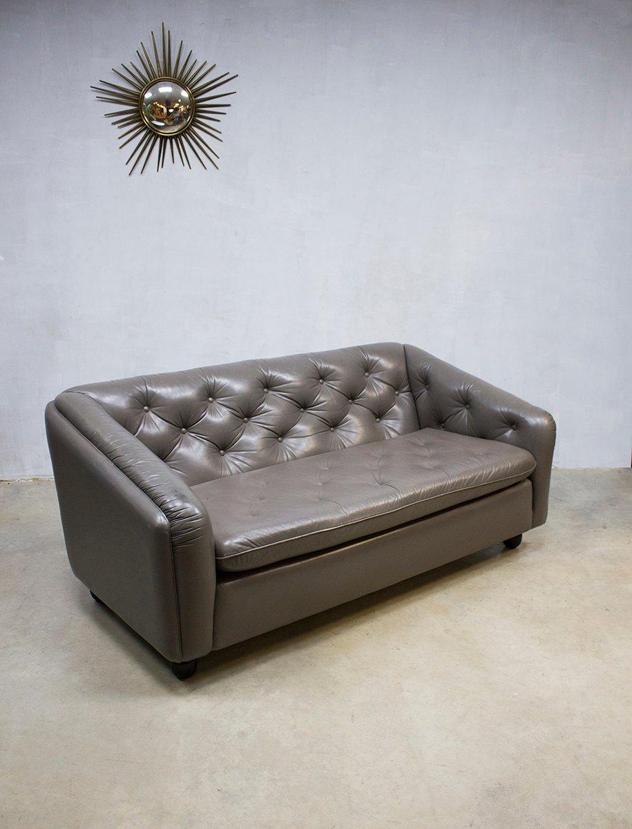 vintage ledersofa von geoffrey harcourt f r artifort bei pamono kaufen. Black Bedroom Furniture Sets. Home Design Ideas