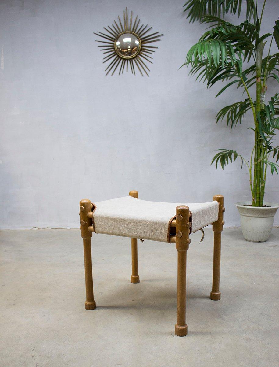Vintage safari stuhl hocker bei pamono kaufen for Stuhl hocker