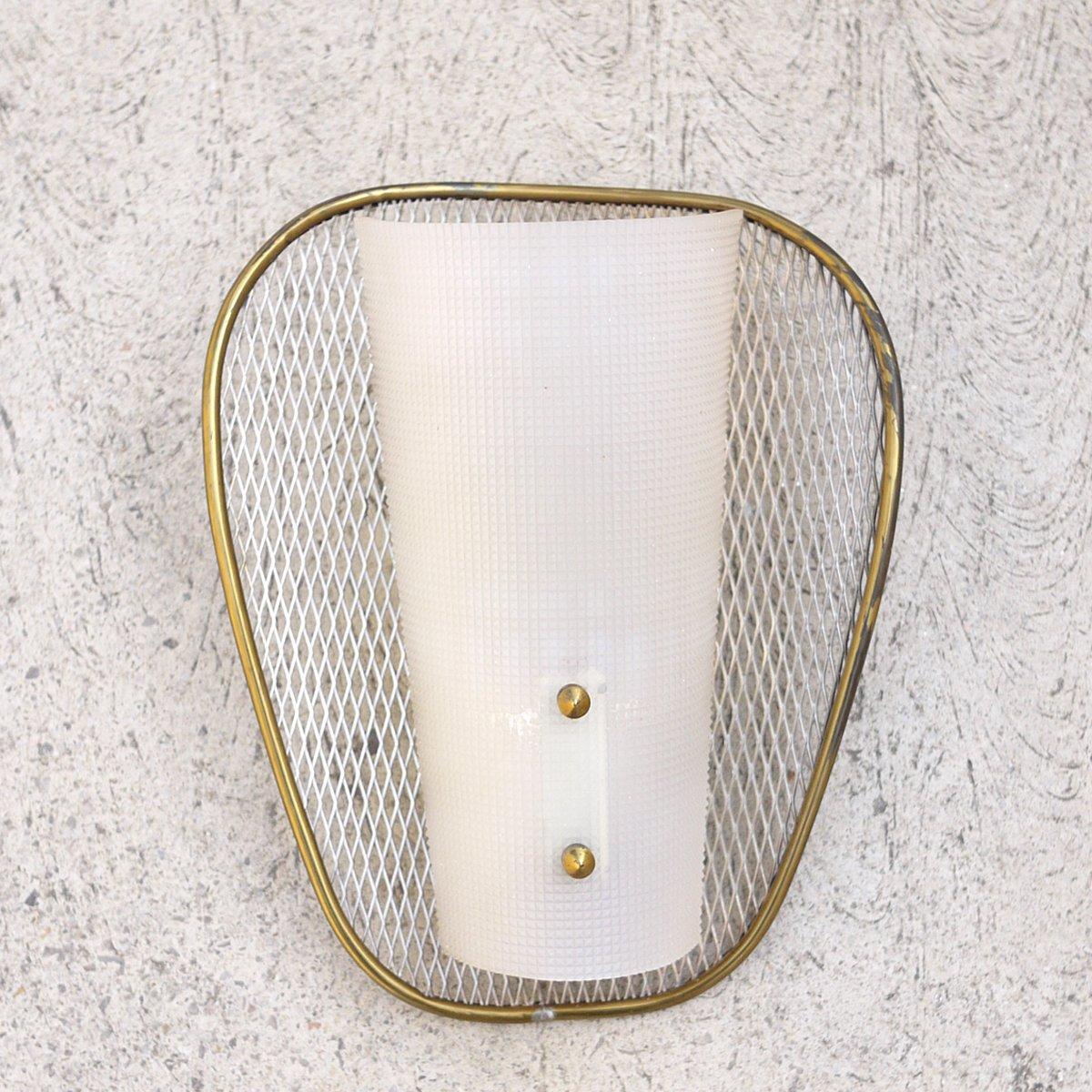 applique murale net vintage en acrylique et laiton en. Black Bedroom Furniture Sets. Home Design Ideas