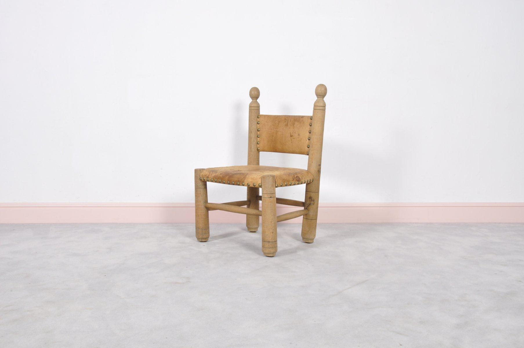 Chaise d 39 enfant louisiana vintage avec dossier barreaux for Chaise a barreaux