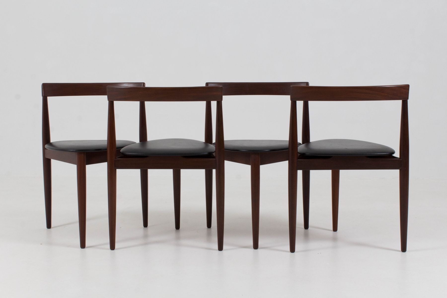 mid century roundette dining chairs and table by hans olsen for frem r jle denmark 1960s set. Black Bedroom Furniture Sets. Home Design Ideas