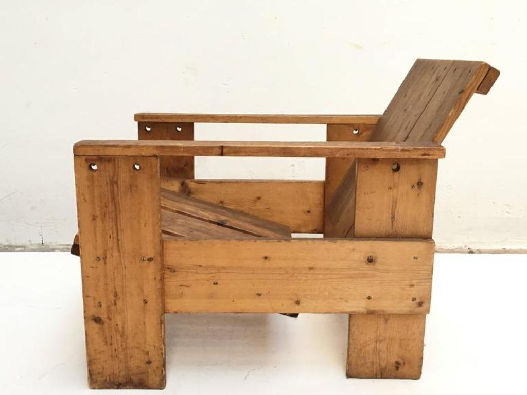 Superb Perfect Vintage Crate Chair By Gerrit Rietveld