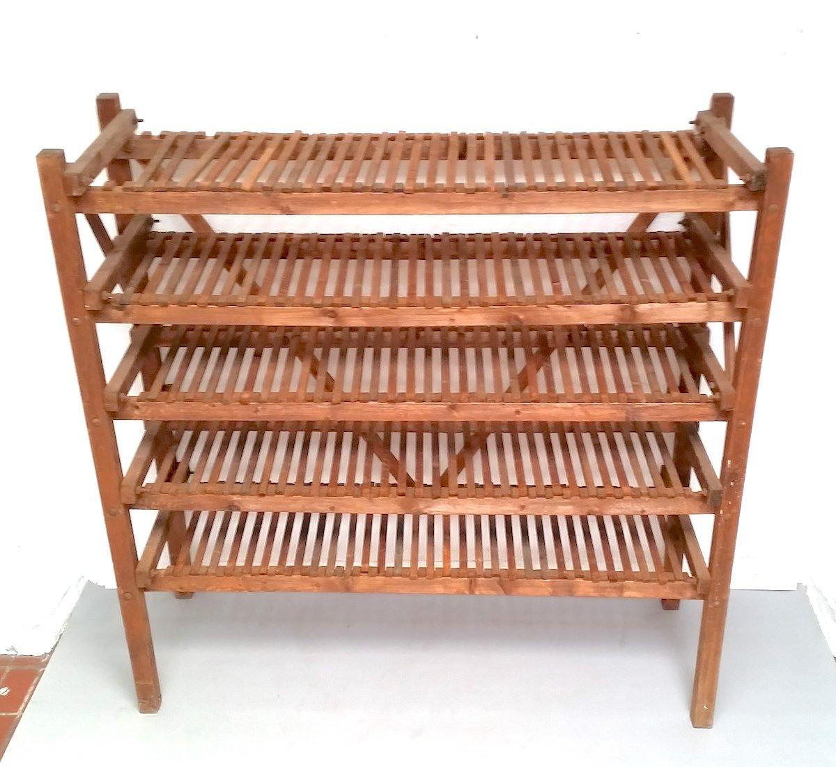 tag re de boulangerie vintage en bois 1950s en vente sur pamono. Black Bedroom Furniture Sets. Home Design Ideas