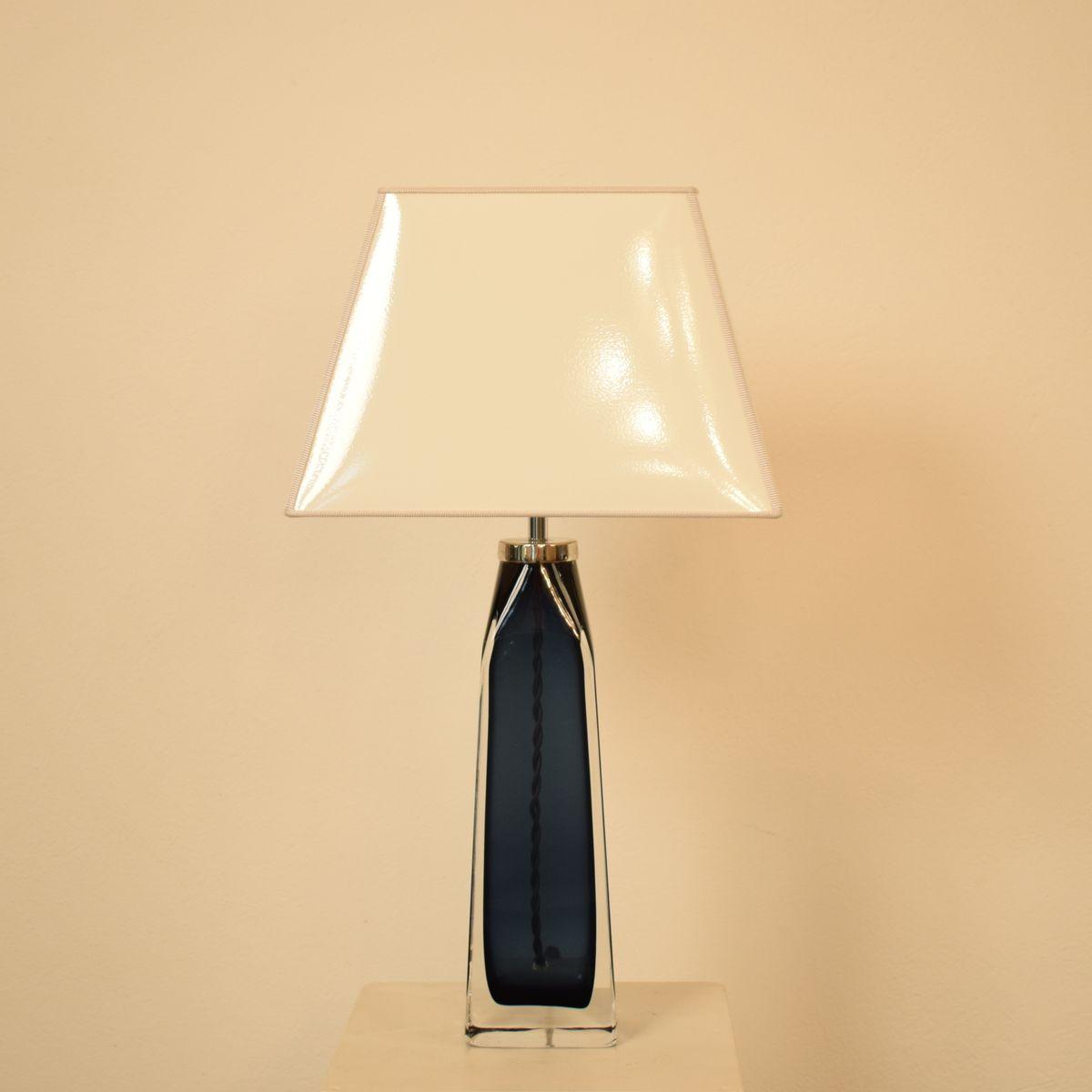 Blaue mid century kristallglas lampen von carl fagerlund for Lampen niederlande