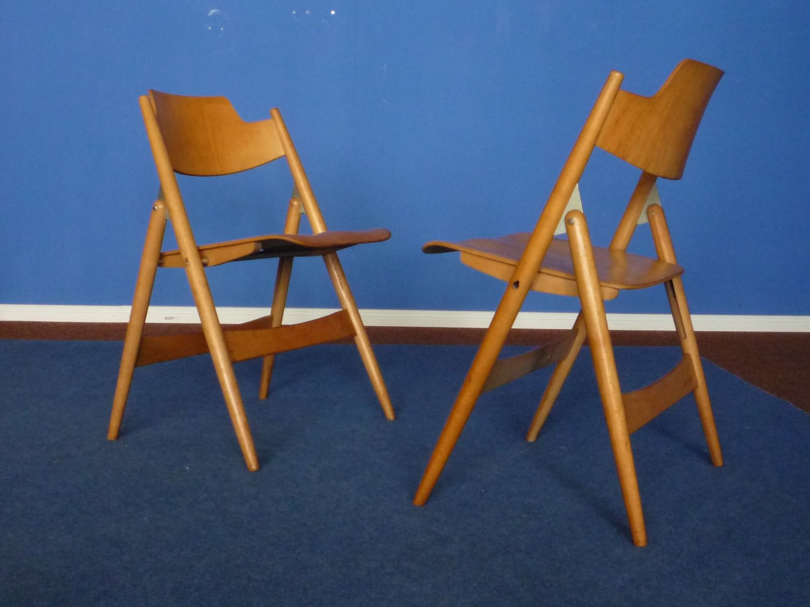 Mid Century SE18 Folding Chairs by Egon Eiermann for Wilde