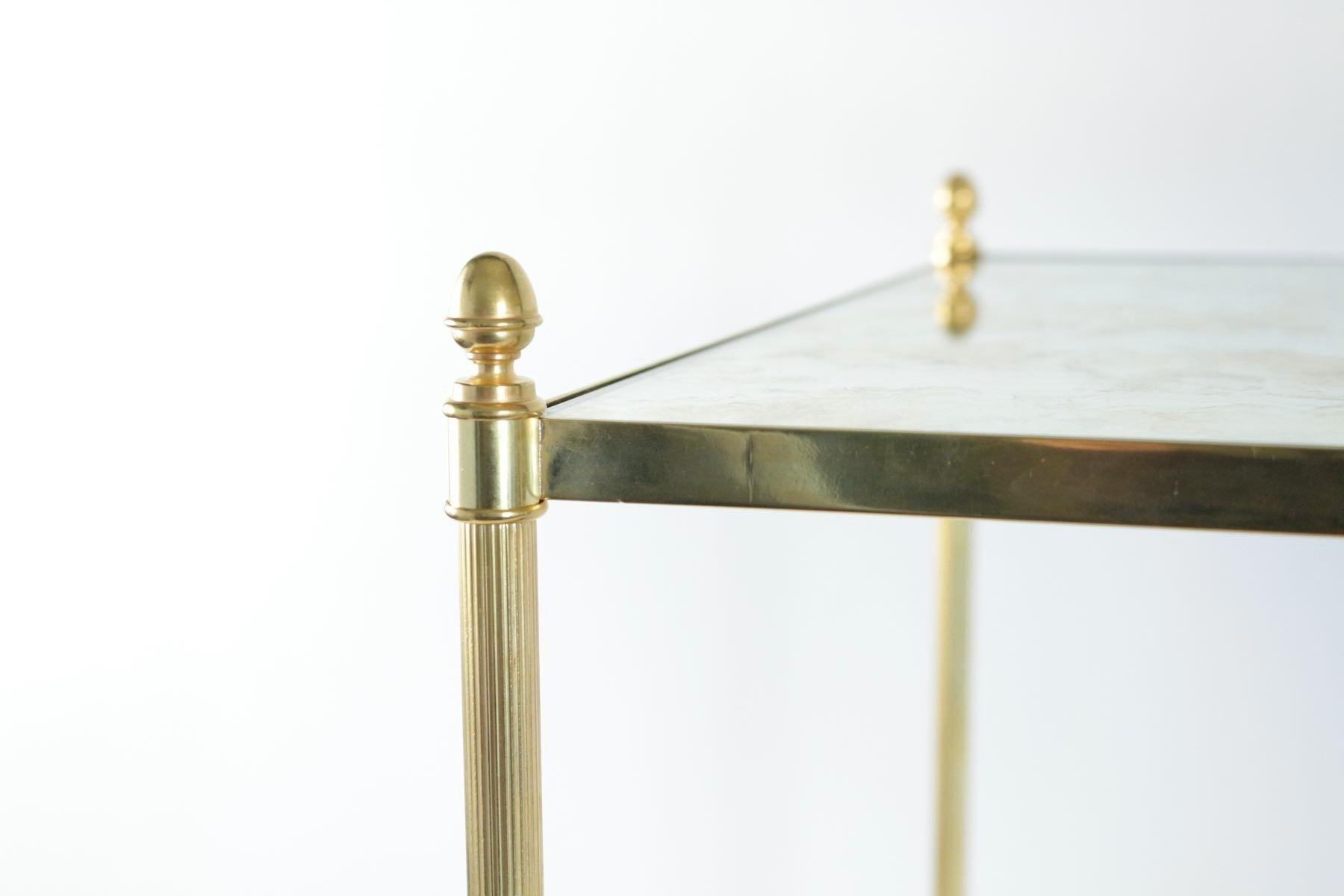 Tables d appoint vintage en laiton dor 1970s set de 2 en vente sur pamono - Table d appoint dore ...