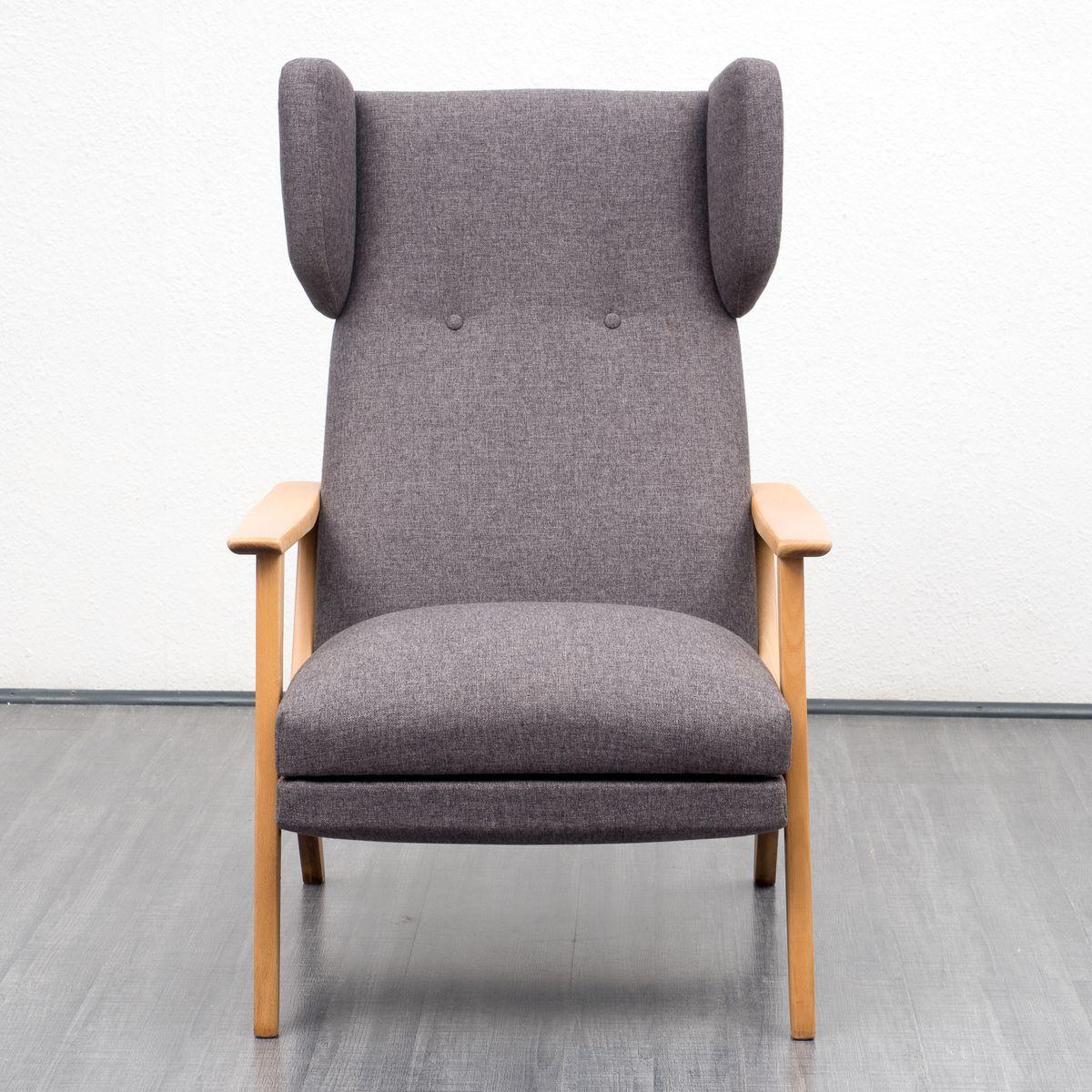 mid century birkenholz ohrensessel 1960er bei pamono kaufen. Black Bedroom Furniture Sets. Home Design Ideas