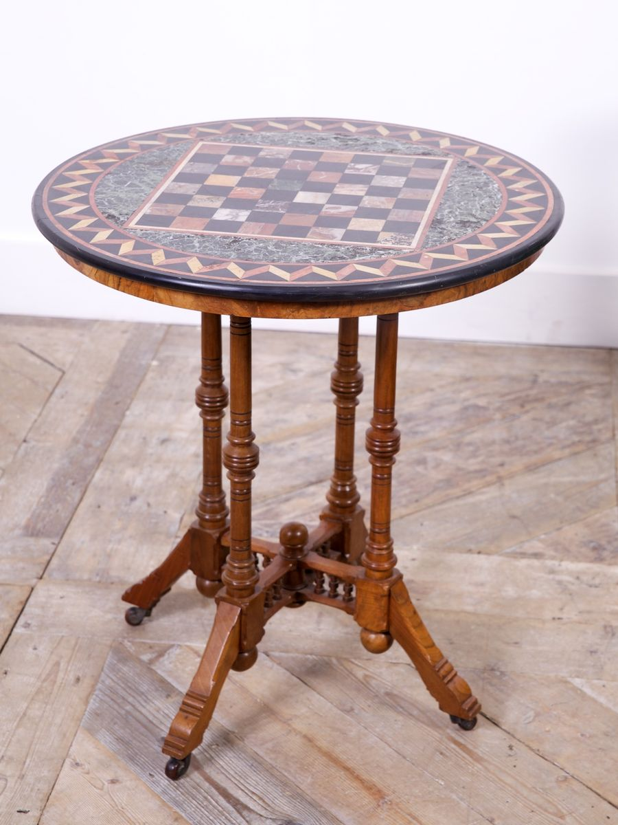 Marble Center Table 1860s for sale at Pamono