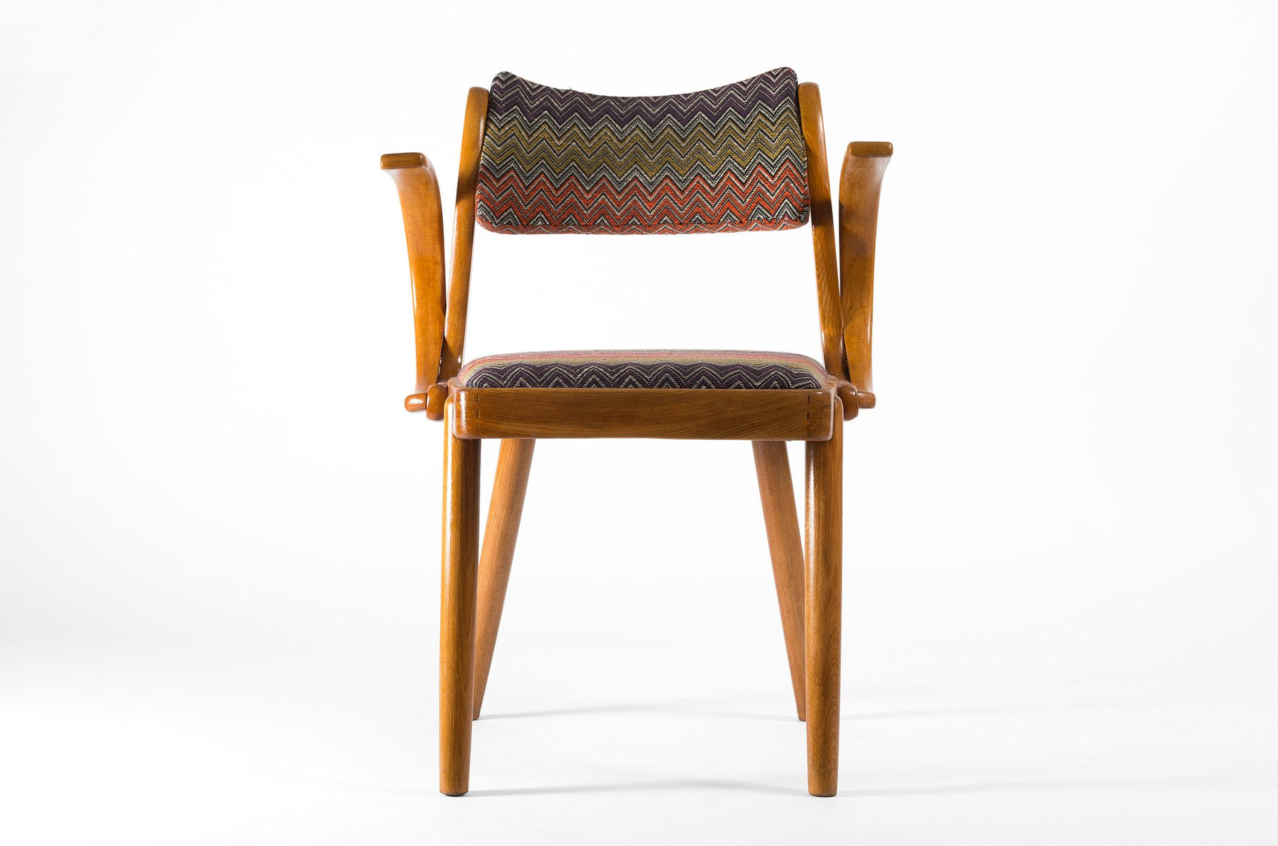 zickzack muster art deco armlehnstuhl 1930er bei pamono kaufen. Black Bedroom Furniture Sets. Home Design Ideas