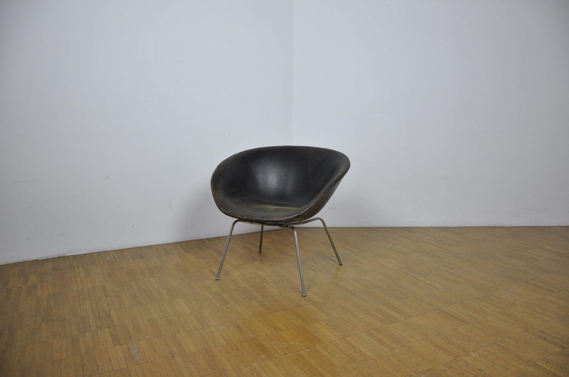 d nischer mid century pot stuhl von arne jacobsen f r. Black Bedroom Furniture Sets. Home Design Ideas