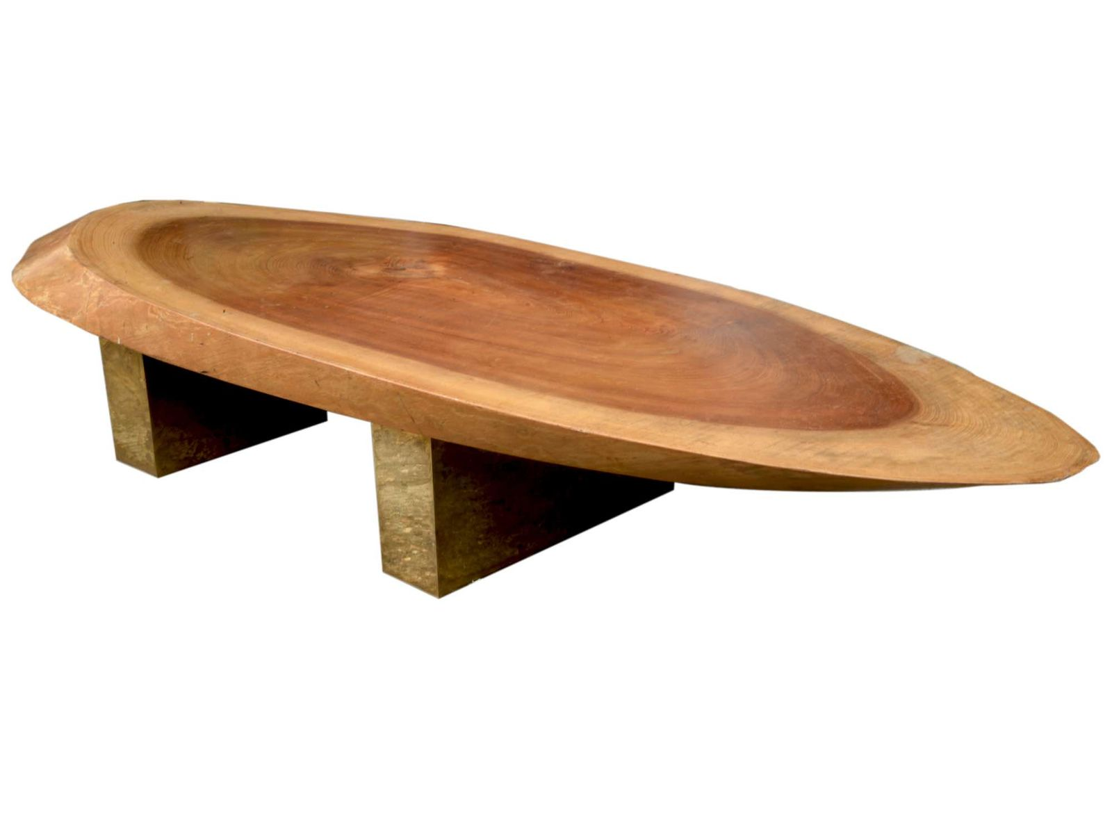 Italian Natural Wooden Coffee Table 1970s for sale at Pamono