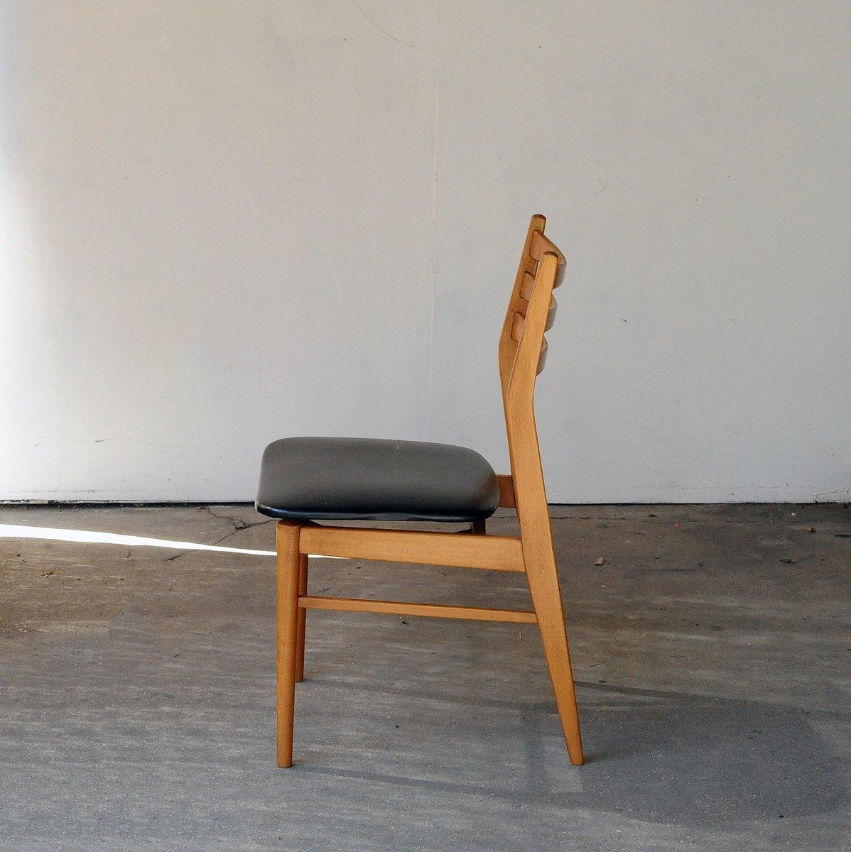 chaises de salle manger vintage en teck blond et ska scandinavie set de 4 en vente sur pamono. Black Bedroom Furniture Sets. Home Design Ideas