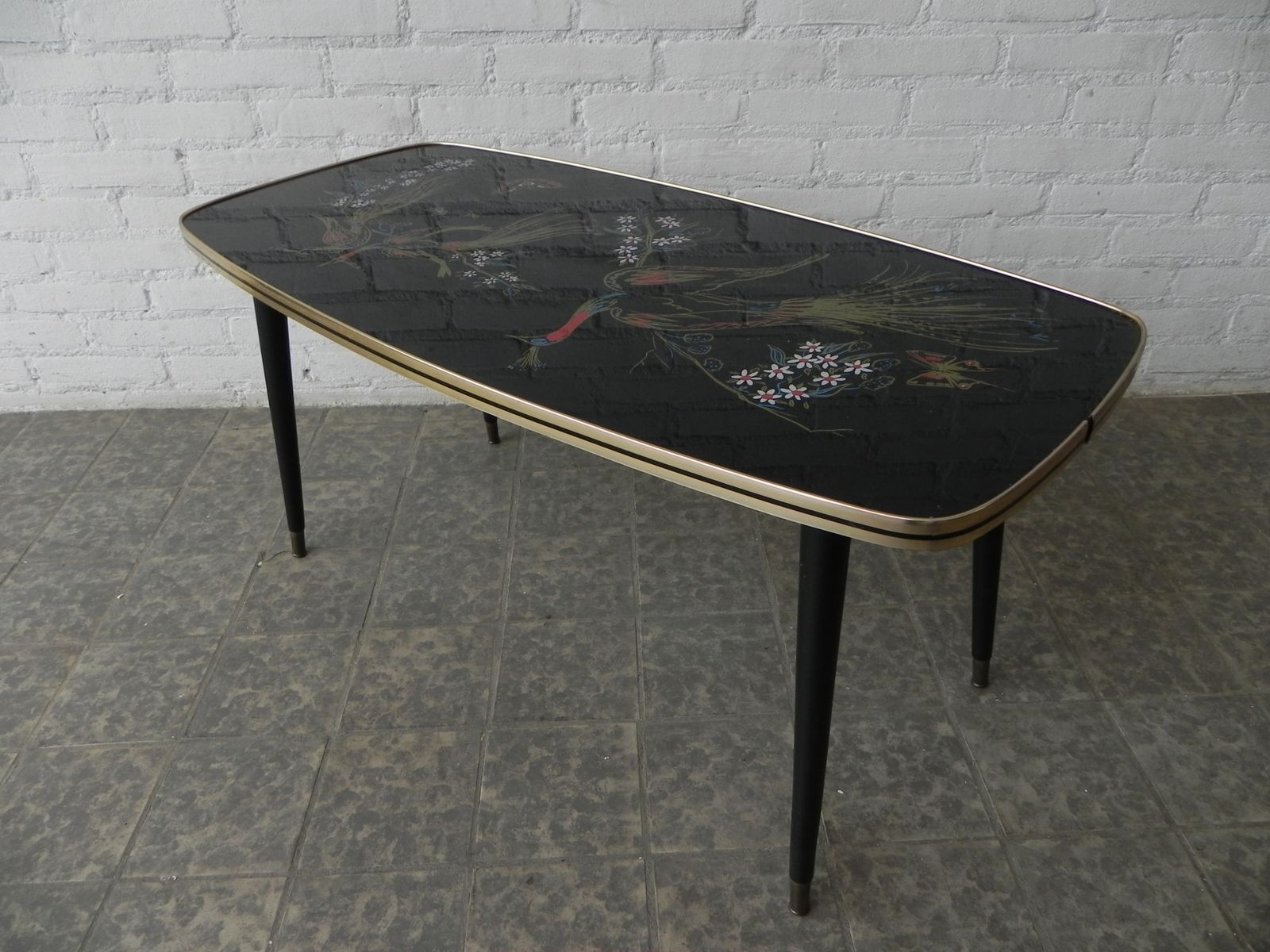 Vintage Glass Coffee Table 85