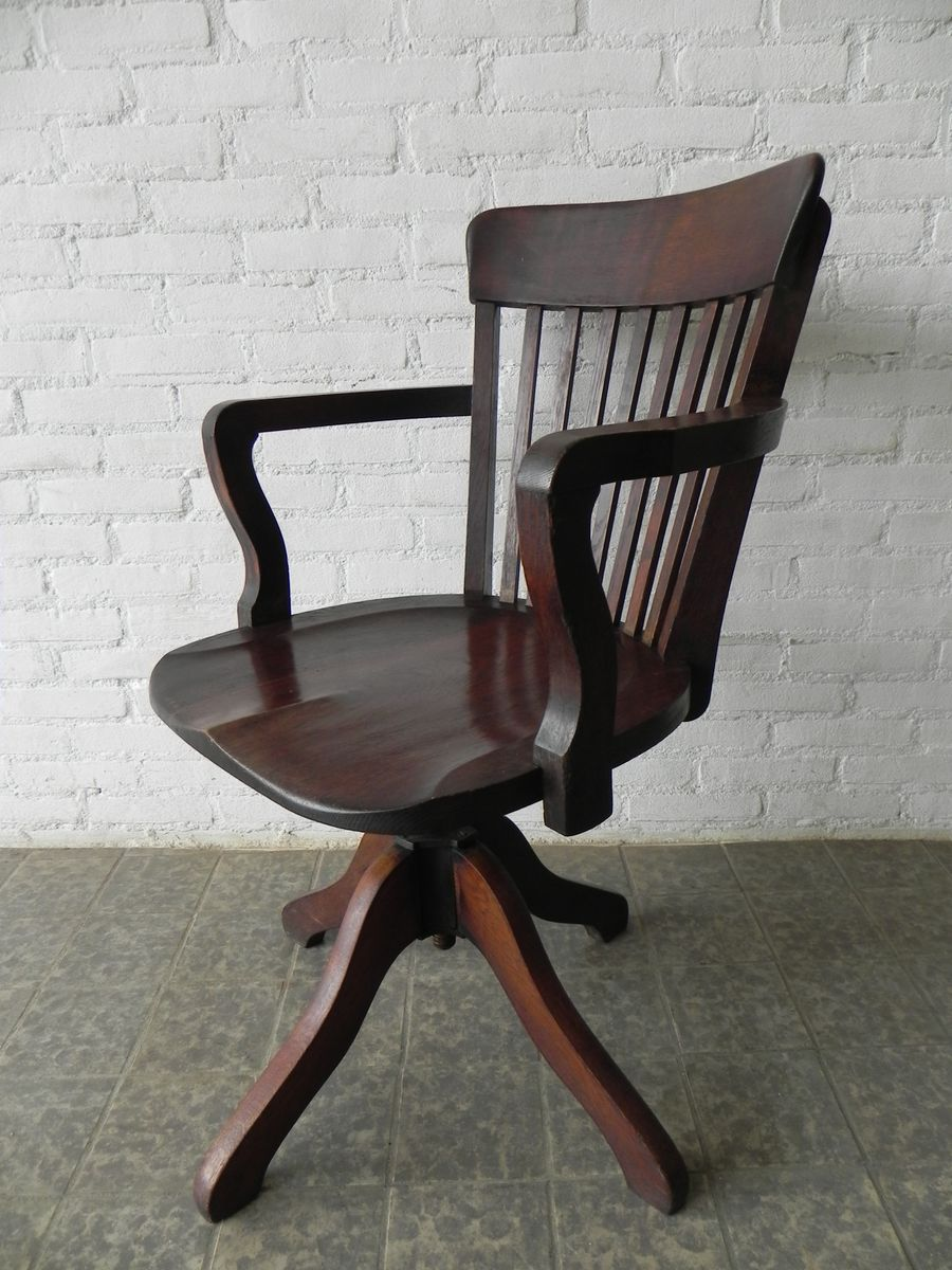 Chaise de bureau ajustable en ch ne 1930s en vente sur pamono for Chaise 1930