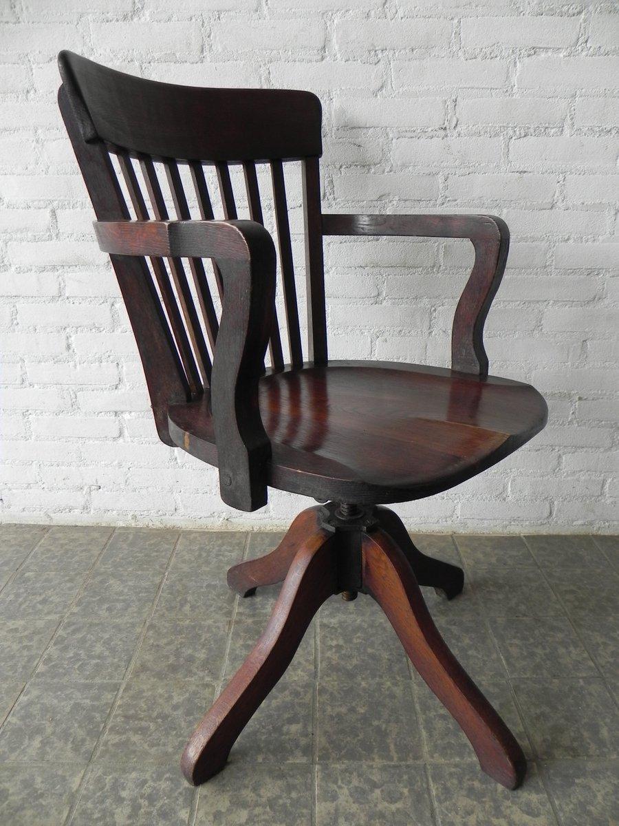 chaise de bureau ajustable en ch ne 1930s en vente sur pamono. Black Bedroom Furniture Sets. Home Design Ideas