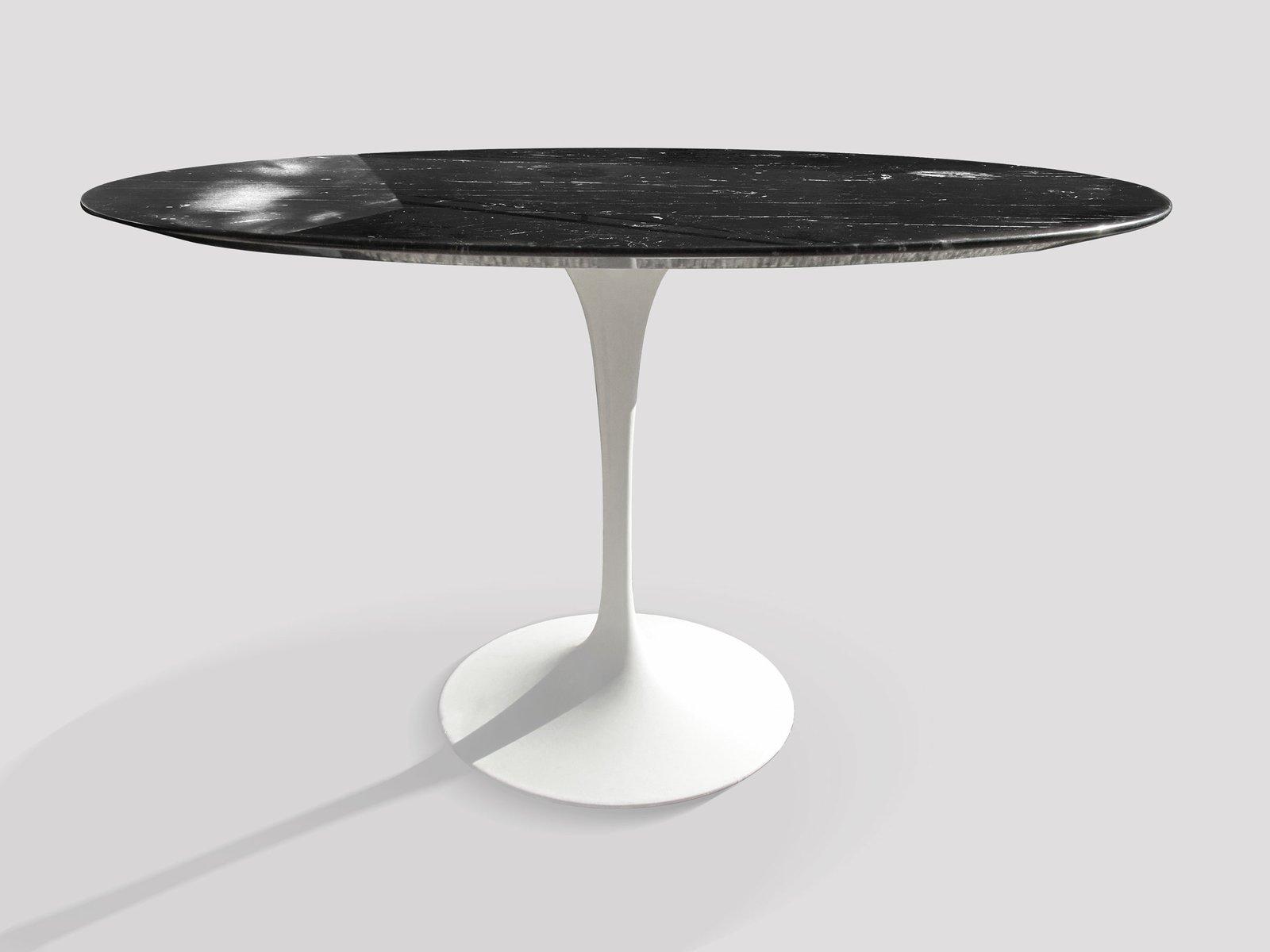 Tavolo da pranzo vintage in marmo nero marquinia di eero saarinen per knoll in vendita su pamono - Tavolo saarinen knoll originale ...