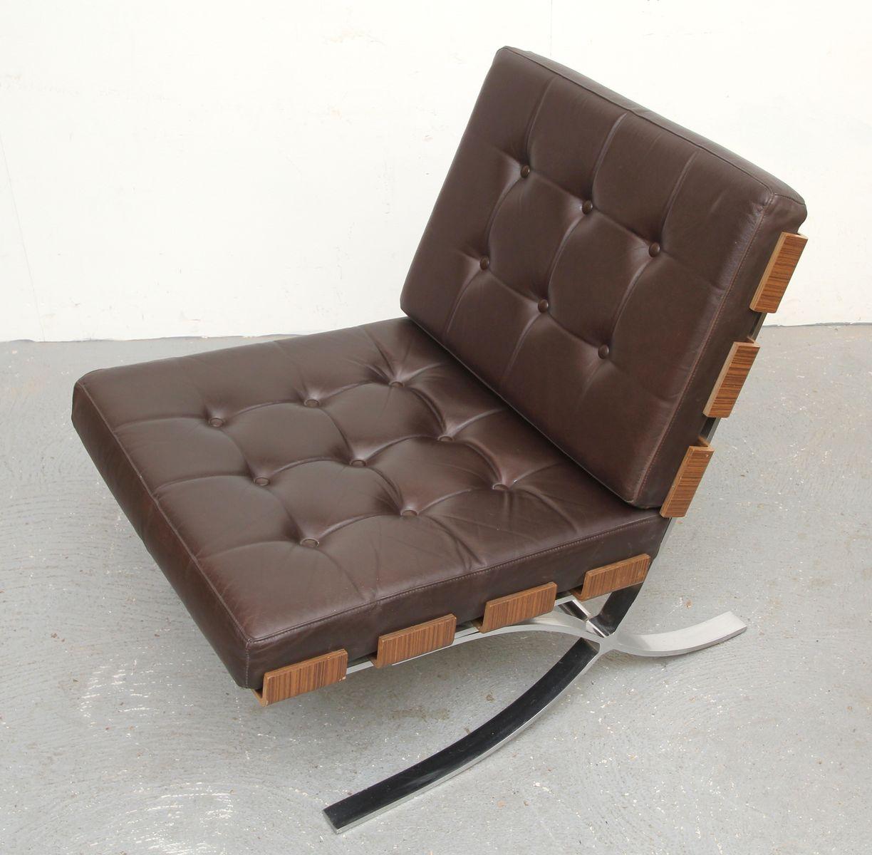 flacher stahl leder holz sessel von fr scher 1970er bei pamono kaufen. Black Bedroom Furniture Sets. Home Design Ideas