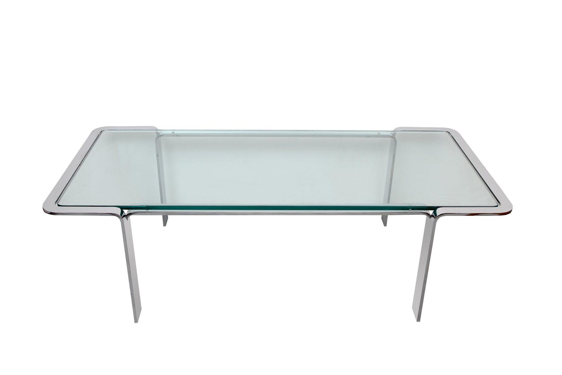German Chrome Glass Coffee Table 1970s For Sale At Pamono