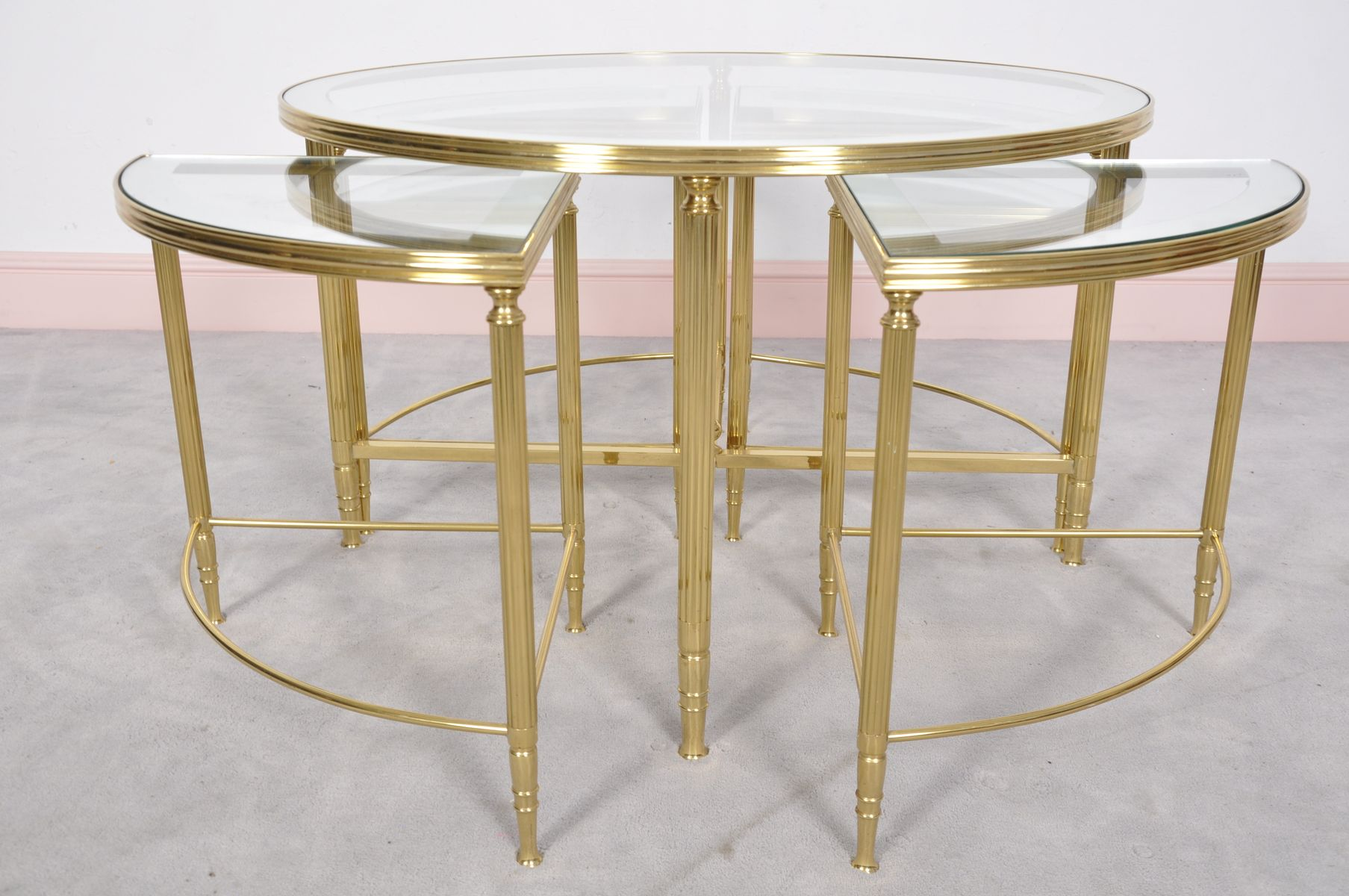 Five Piece Hollywood Regency Cocktail Table by Maison Jansen