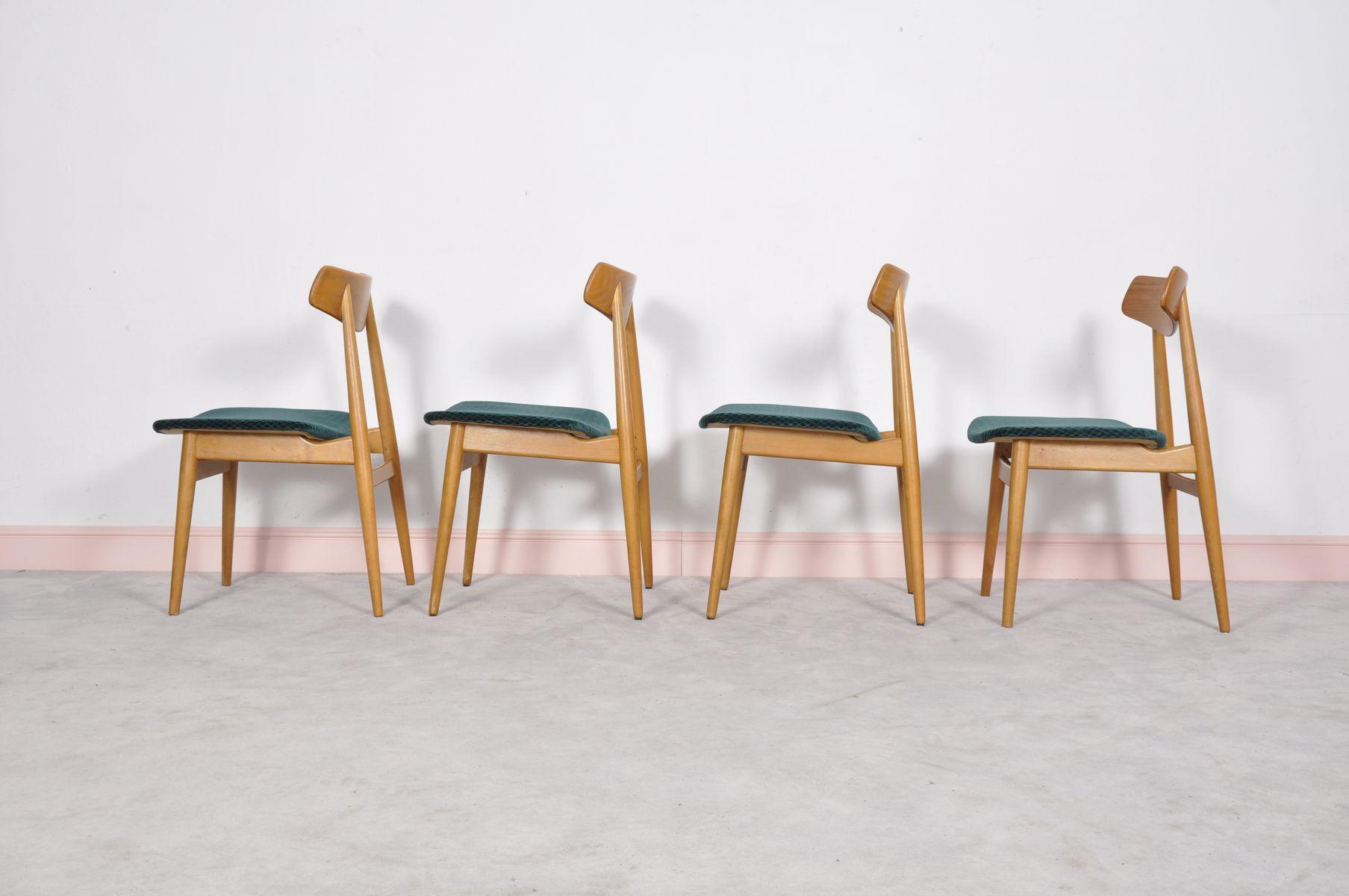 Chaises de salle manger en ch ne scandinavie 1960s for Salle a manger annee 1960