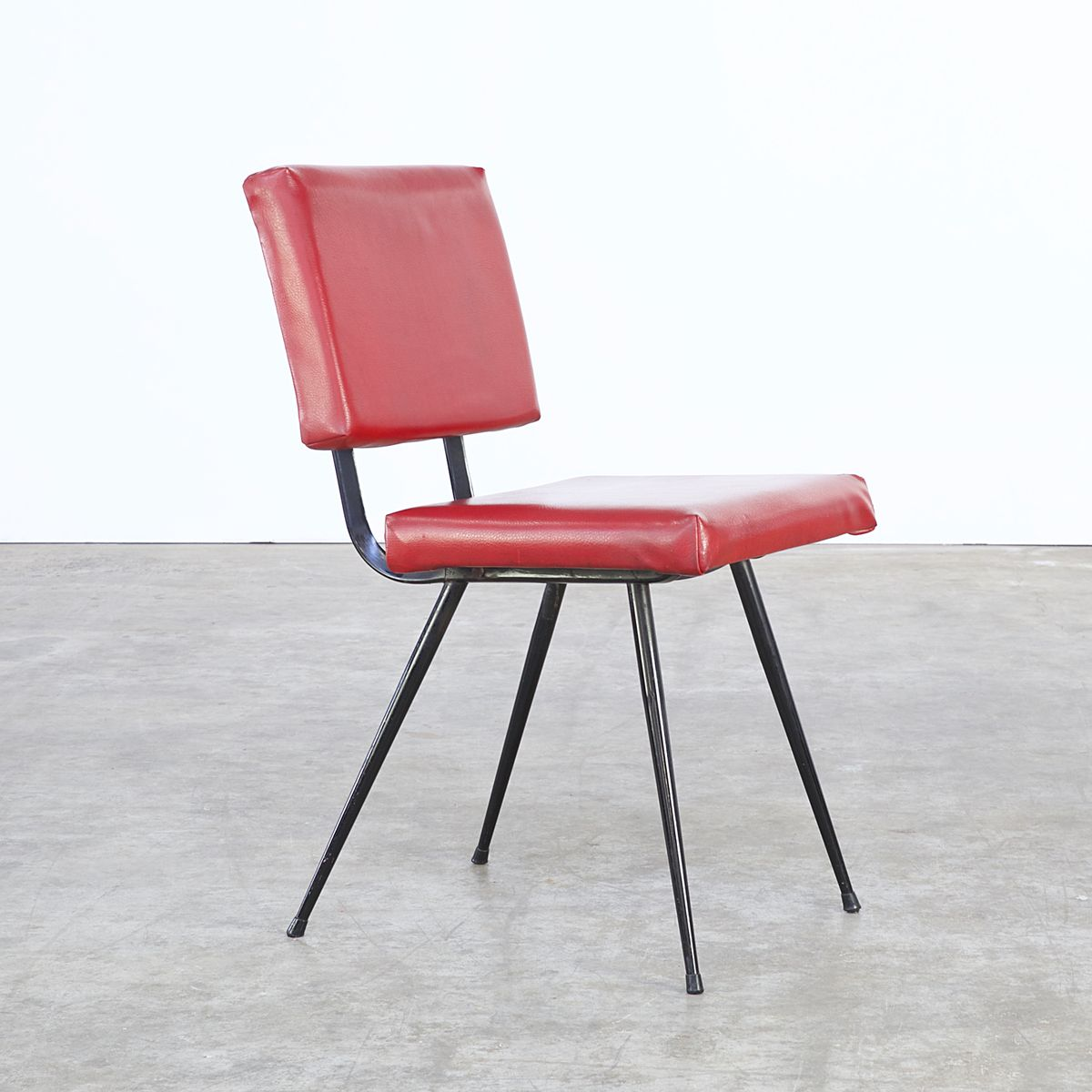Red skai dining chairs from brabantia 1970s set of 4 for for Red dining chairs for sale