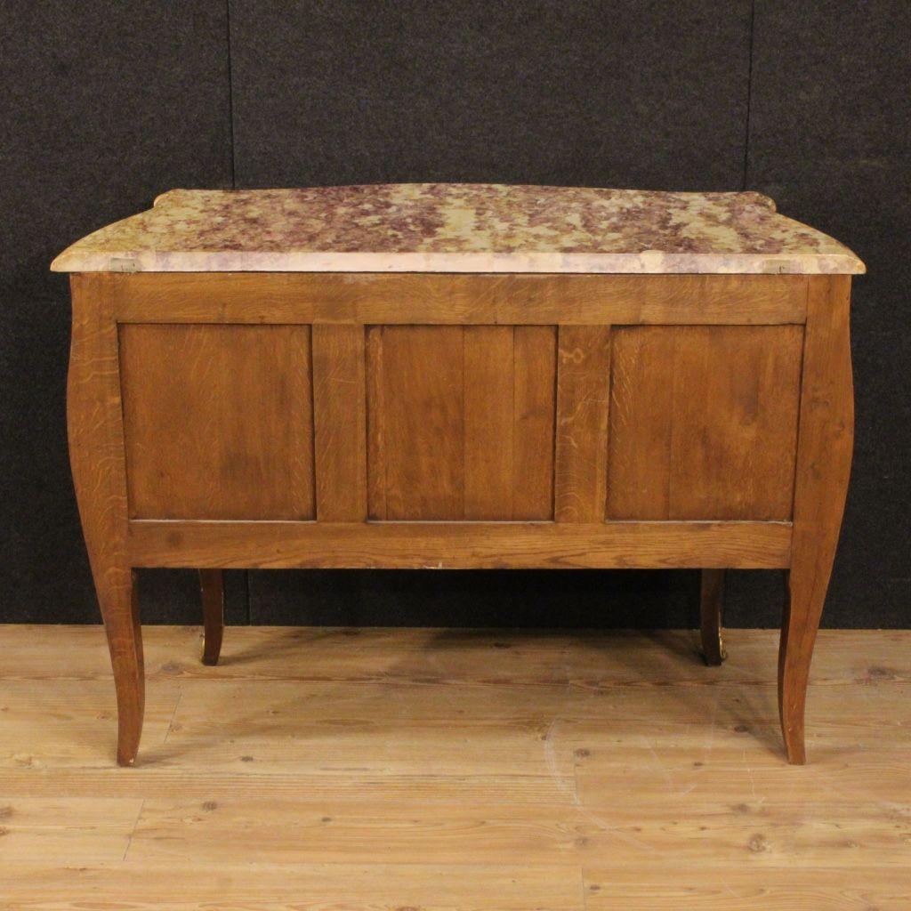 franz sische kommode mit intarsien und marmorplatte 1940er bei pamono kaufen. Black Bedroom Furniture Sets. Home Design Ideas