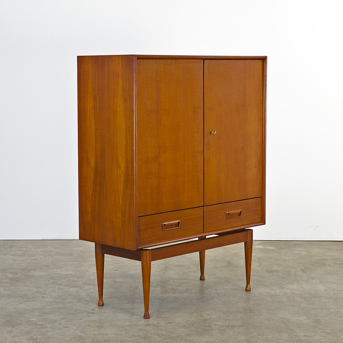 Teak Cabinet With Two Doors And Two Drawers, 1960s 7. $1,386.00. Price Per  Piece