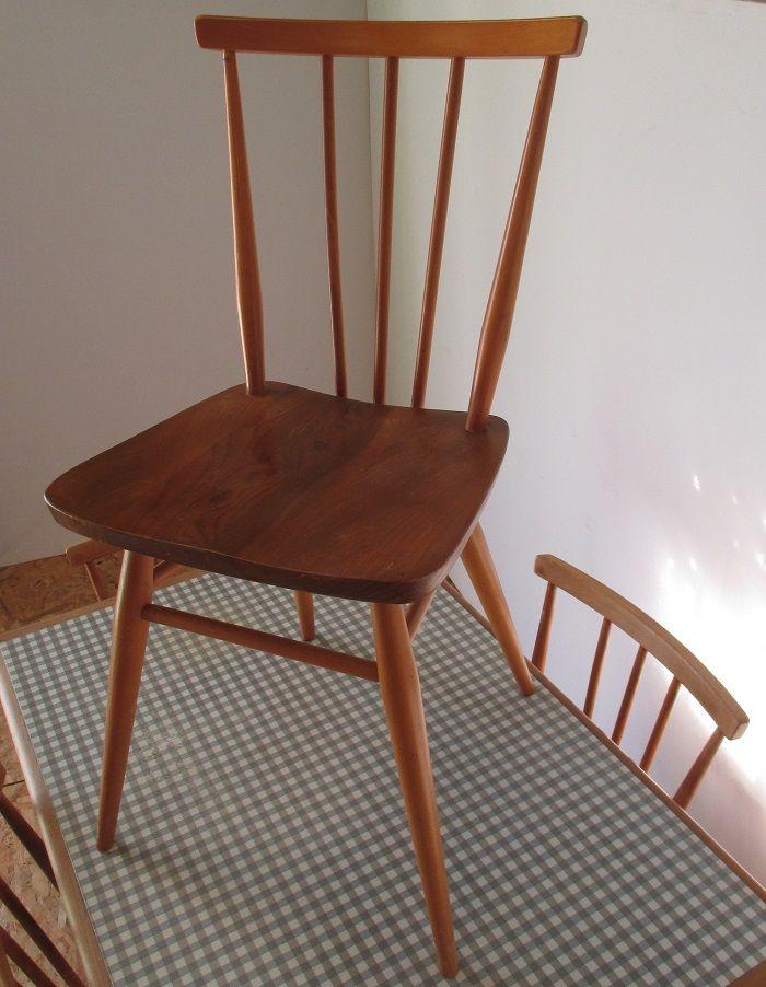 formica tisch mit 4 st hlen von lucian ercolani f r ercol 1960er bei pamono kaufen. Black Bedroom Furniture Sets. Home Design Ideas