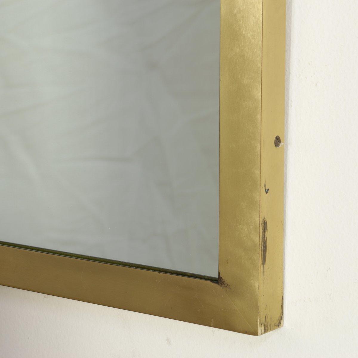 spiegel mit ablage aus nussholz furnier und messing. Black Bedroom Furniture Sets. Home Design Ideas