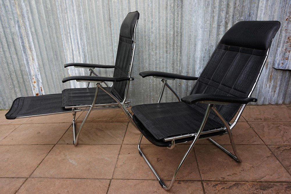 previous & Vintage Italian Folding and Reclining Garden Chairs from Maule ... islam-shia.org
