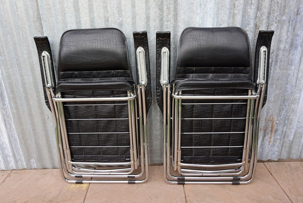 Price per set & Vintage Italian Folding and Reclining Garden Chairs from Maule ... islam-shia.org