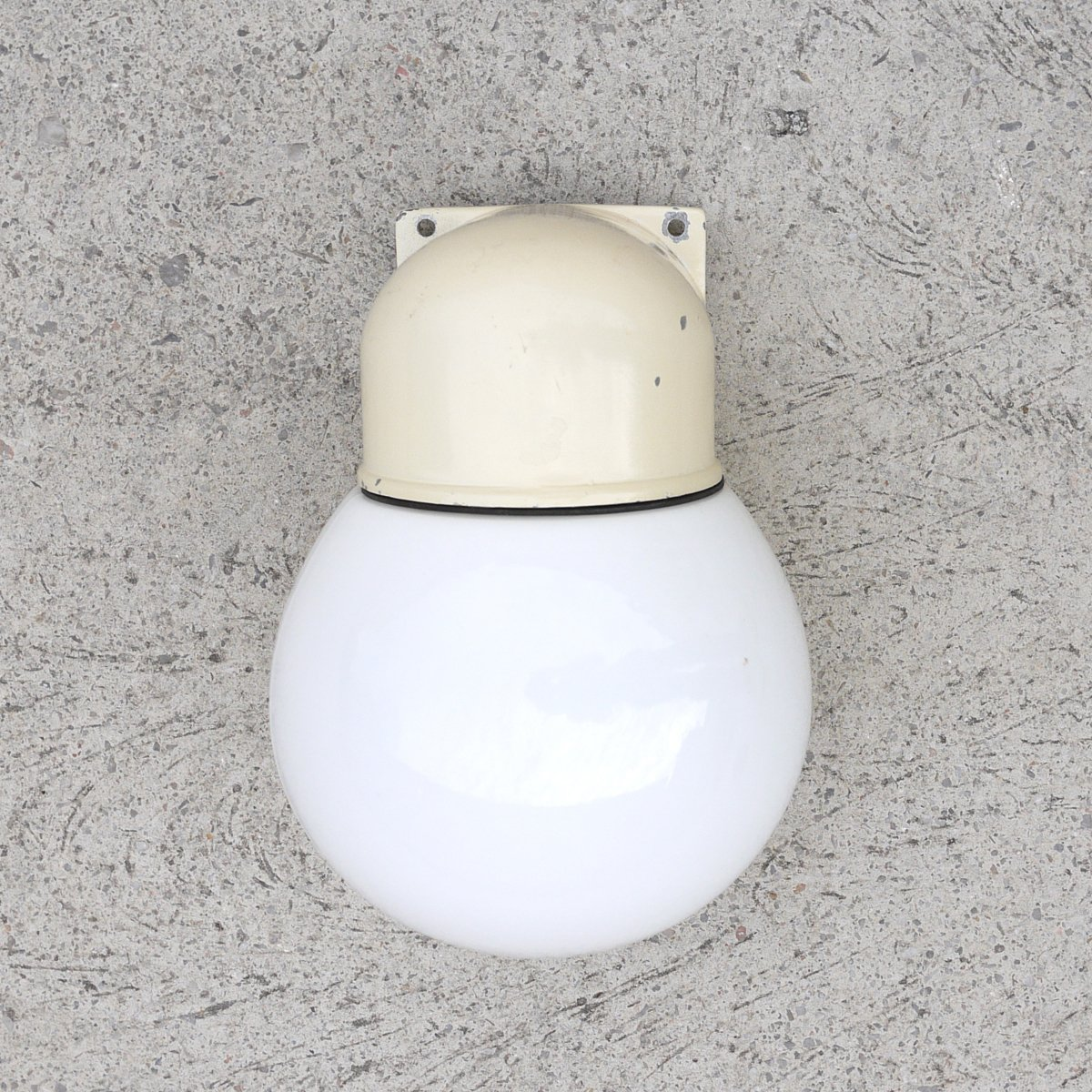 Vintage Industrial Wall-Mounted Globe Lamp, 1950s for sale at Pamono